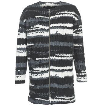 Ruhák Női Kabátok Bench EVENING Fekete  / Fehér / Szürke