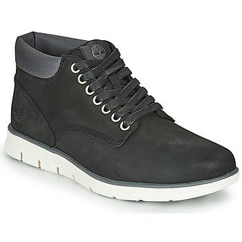 Cipők Férfi Magas szárú edzőcipők Timberland BRADSTREET CHUKKA LEATHER Fekete