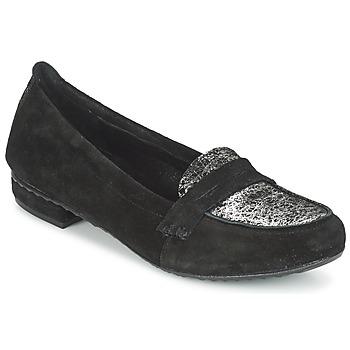Cipők Női Mokkaszínek Regard REMAVO Fekete  / Velúr