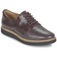 Cipők Női Oxford cipők Clarks GLICK DARBY Padlizsán