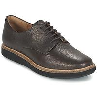 Cipők Női Oxford cipők Clarks GLICK DARBY Barna