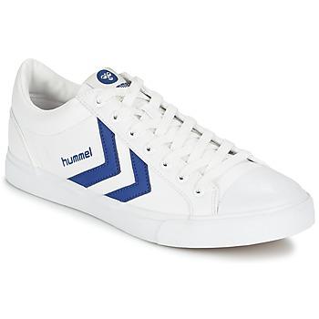 Shoes Rövid szárú edzőcipők Hummel BASELINE COURT Fehér / Kék