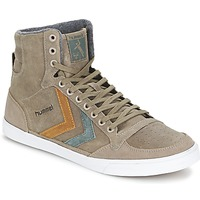Shoes Magas szárú edzőcipők Hummel TEN STAR DUO OILED HIGH Barna