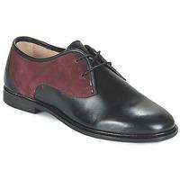 Cipők Női Oxford cipők M. Moustache EUGENIE Fekete  / Bordó