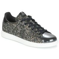 Shoes Női Rövid szárú edzőcipők Victoria DEPORTIVO BASKET GLITTER Fekete
