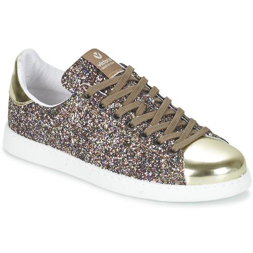 Cipők Női Rövid szárú edzőcipők Victoria DEPORTIVO BASKET GLITTER Sokszínű