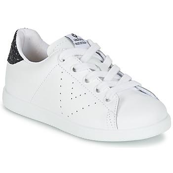 Cipők Lány Rövid szárú edzőcipők Victoria DEPORTIVO BASKET PIEL KID Fehér