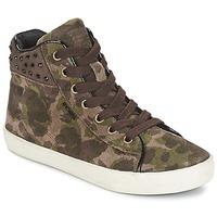 Cipők Lány Magas szárú edzőcipők Geox KIWI GIRL Zöld
