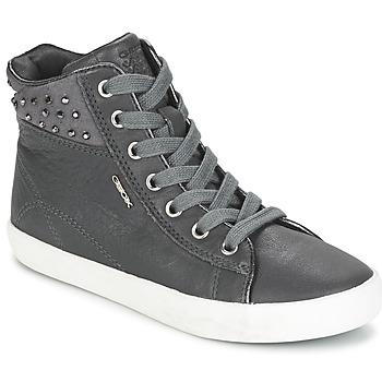 Cipők Lány Magas szárú edzőcipők Geox KIWI GIRL Szürke