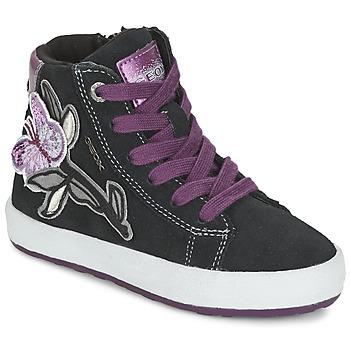 Cipők Lány Magas szárú edzőcipők Geox WITTY Fekete