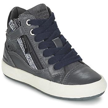 Cipők Lány Magas szárú edzőcipők Geox WITTY Szürke