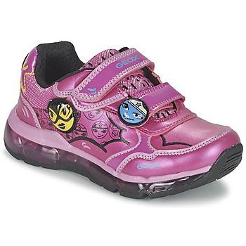 Cipők Lány Rövid szárú edzőcipők Geox ANDROID GIRL Rózsaszín