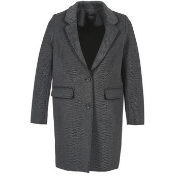 Ruhák Női Kabátok Eleven Paris TABLEAUBIS Szürke / Fekete