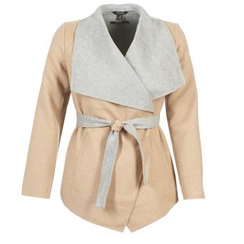 Ruhák Női Kabátok Tom Tailor JAZOUVE Bézs / Szürke