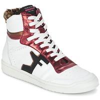 Cipők Női Magas szárú edzőcipők Serafini SAN DIEGO Fehér / Piros