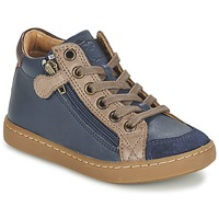 Cipők Gyerek Magas szárú edzőcipők Shoo Pom PLAY HIBI ZIP Tengerész / Tópszínű