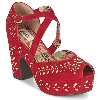Cipők Női Szandálok / Saruk Miss L'Fire SELINA Piros