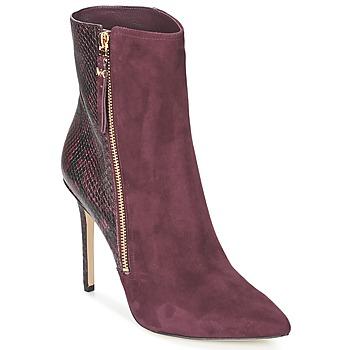 Cipők Női Bokacsizmák MICHAEL Michael Kors DAWSON BOOTIE Bordó
