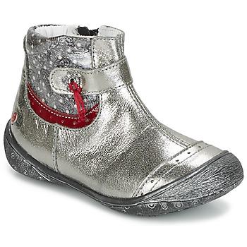 Cipők Lány Csizmák GBB NYMPHE Szürke / Nyomtatott