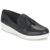 Cipők Női Belebújós cipők FitFlop TASSEL SUPERSKATE Fekete