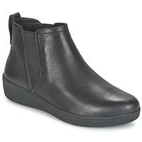 Cipők Női Csizmák FitFlop SUPERCHELSEA BOOT Fekete