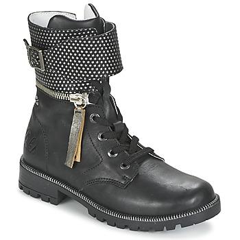 Cipők Lány Csizmák Ikks PEGGY Fekete