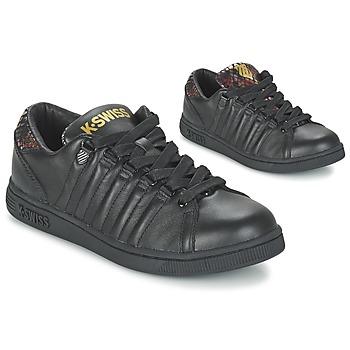 Cipők Női Rövid szárú edzőcipők K-Swiss LOZAN TONGUE TWISTER Fekete  / Arany