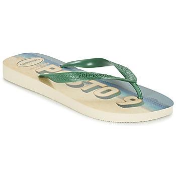 Cipők Férfi Lábujjközös papucsok Havaianas POSTO CODE Zöld / Kék