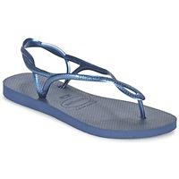 Cipők Női Lábujjközös papucsok Havaianas LUNA Kék / Tengerész