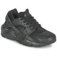 Cipők Gyerek Rövid szárú edzőcipők Nike HUARACHE RUN JUNIOR Fekete