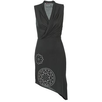 material Női Rövid ruhák Desigual RAZIANA Fekete