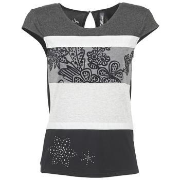 material Női Rövid ujjú pólók Desigual KITEPI Fehér / Szürke / Fekete