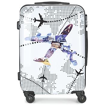 Táskák Keményfedeles bőröndök David Jones OUSKILE 50L Sokszínű
