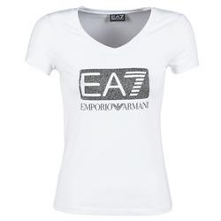 material Női Rövid ujjú pólók Emporio Armani EA7 FOUNAROLA Fehér