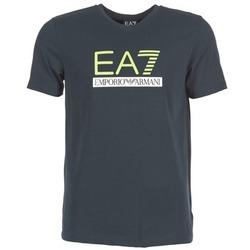 material Férfi Rövid ujjú pólók Emporio Armani EA7 JANTLOA Tengerész