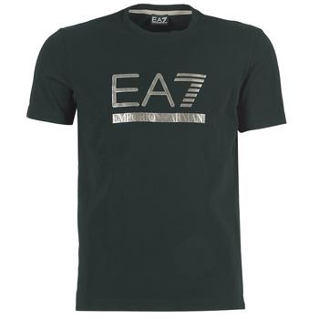 material Férfi Rövid ujjú pólók Emporio Armani EA7 MAGGAROL Fekete