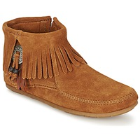 Cipők Női Csizmák Minnetonka CONCHO FEATHER SIDE ZIP BOOT Barna