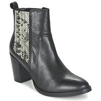 Cipők Női Bokacsizmák Betty London FLARA Fekete  / Piton