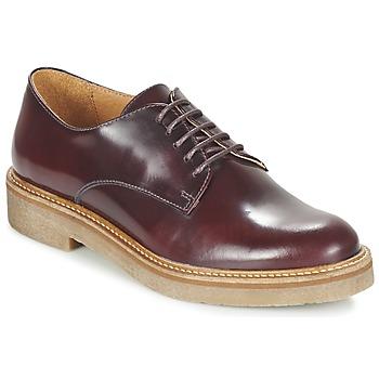 Cipők Női Oxford cipők Kickers OXFORK Bordó