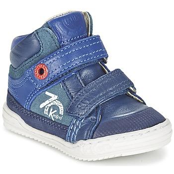 Cipők Fiú Magas szárú edzőcipők Kickers JINJINU Kék