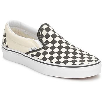 Cipők Belebújós cipők Vans CLASSIC SLIP ON Fekete  / Fehér