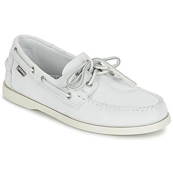 Cipők Férfi Mokkaszínek Sebago DOCKSIDES Fehér
