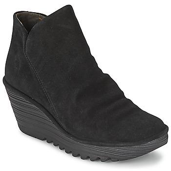 Cipők Női Csizmák Fly London YIP Fekete