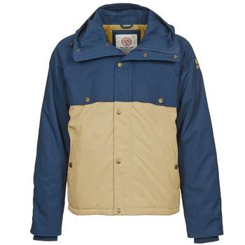 Ruhák Férfi Parka kabátok Franklin & Marshall JKMVA034 Kék / Bézs