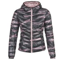 material Női Steppelt kabátok Only Play OLIVIA Fekete  / Rózsaszín