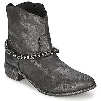 Cipők Női Csizmák Meline VUTIO Fekete  / Fémes