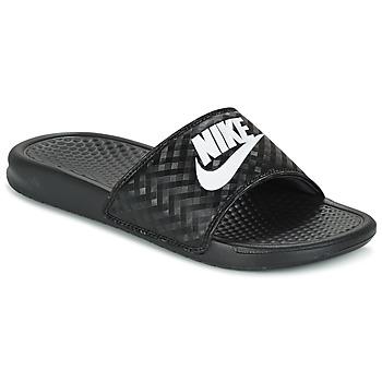 Cipők Női strandpapucsok Nike BENASSI JUST DO IT W Fekete  / Fehér