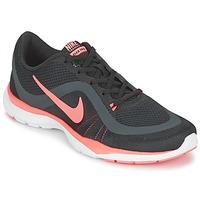 Shoes Női Fitnesz Nike FLEX TRAINER 6 W Fekete  / Rózsaszín