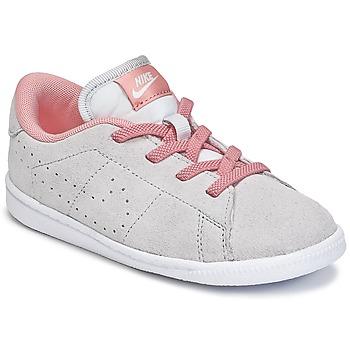 Shoes Lány Rövid szárú edzőcipők Nike TENNIS CLASSIC PREMIUM TODDLER Szürke / Rózsaszín