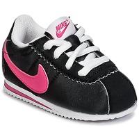 Shoes Lány Rövid szárú edzőcipők Nike CORTEZ NYLON TODDLER Fekete  / Rózsaszín